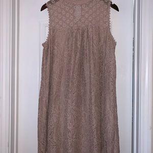 NWOT—Nude Lace Dress